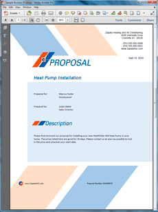 Heating And Air Conditioning Sample Proposal  Create Your Own