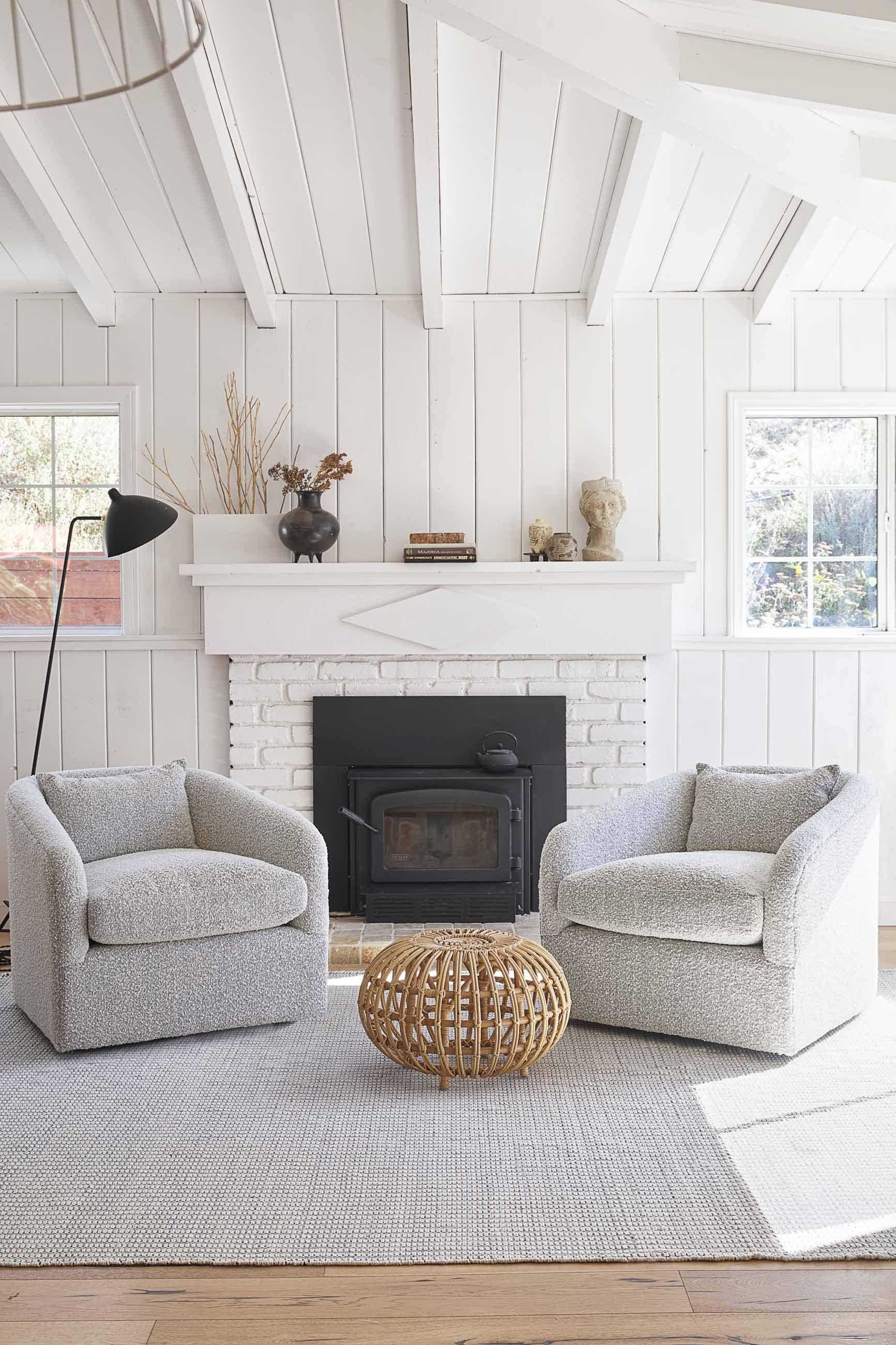 Isobelle Ottoman In 2020 Swivel Chair Living Room Round Rug Living Room Modern Swivel Chair #round #swivel #chairs #living #room