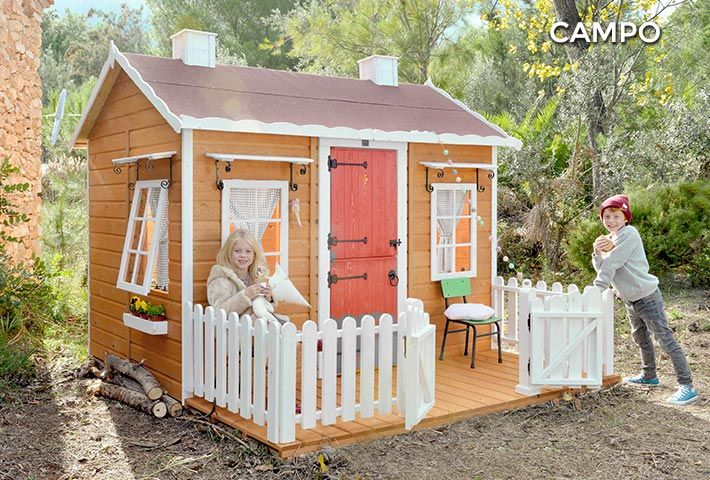 Casita De Jardín De Madera Para Niños Campo Dream House