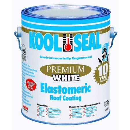 Premium White Elastomeric Roof Coating Walmart Com Rv Roof Repair Roof Coating Camper Repair