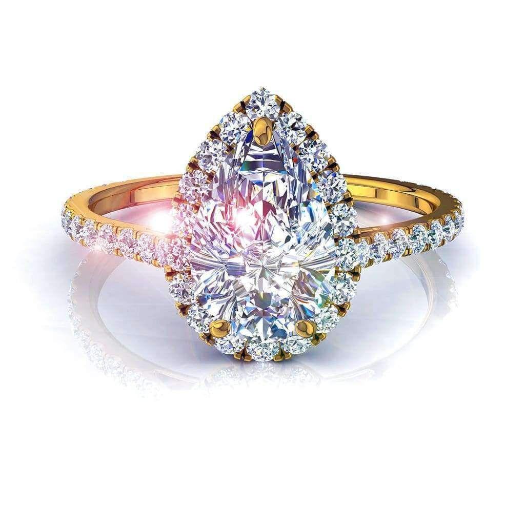 bague diamant poire