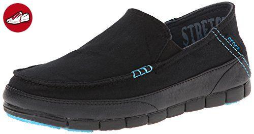 crocs Men's Stretch Sole Loafer 14773 Slip-On Loafer, Black/Black, 7