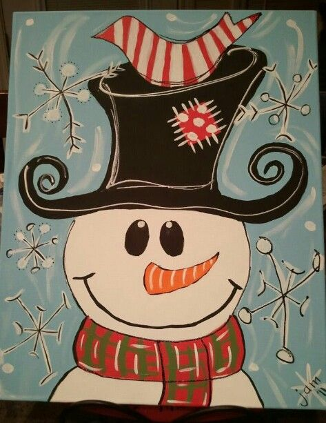 DIY PAINTED SNOWMAN Hand Draw Snow Man On Glass Window Pane Fill With Acrylic Paint Details Black Marker White Looks Do Able CUTE