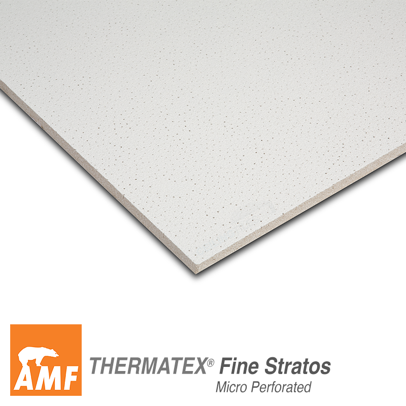 Amf Fine Stratos Micro Perforated Sk 600 X 600mm Square Edge Ceiling