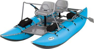 Fish Cat 13 2 Person Pontoon Boat Cabela S Pontoon Boat