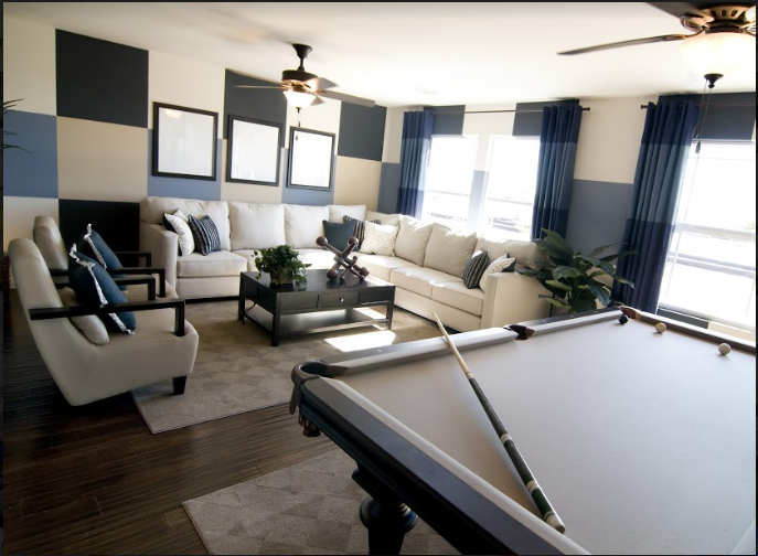 reasons to put a pool table in your living room | living room ideas