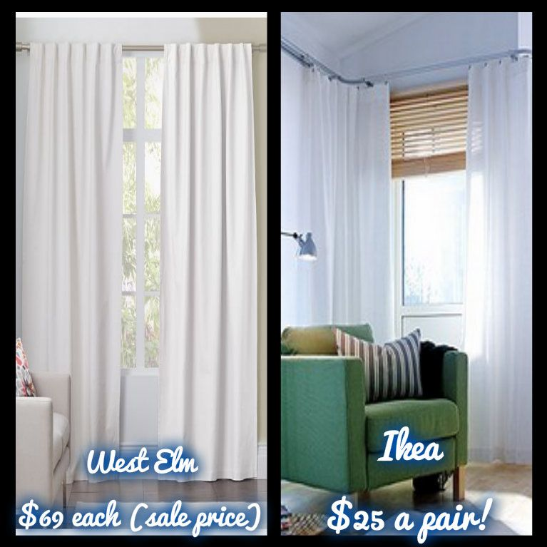The West Elm Look On An Ikea Budget: How To Hem Curtains