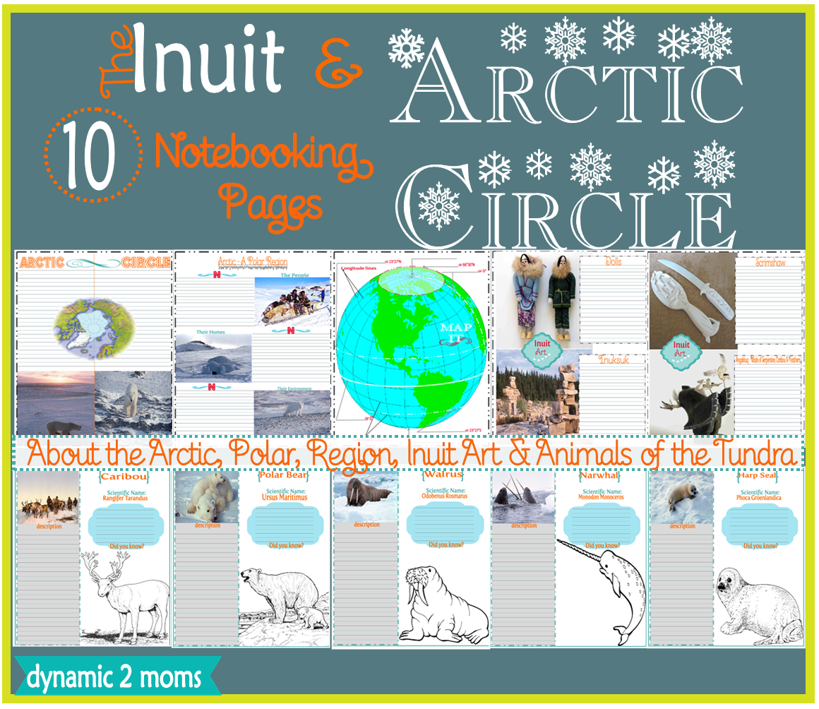 Inuit Art Arctic Circle 10 Notebooking Pages Amp Free Resources