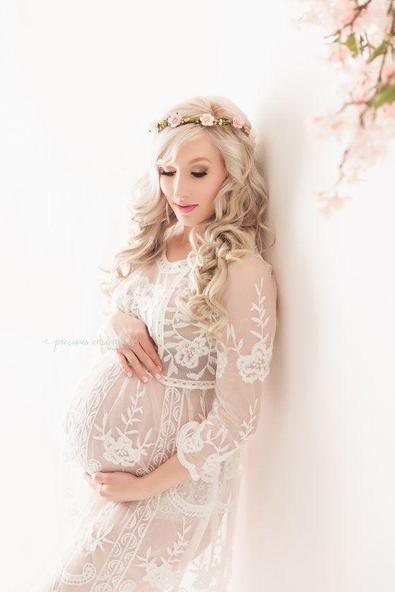 RTS Spitze Mutterschaft Kleid fr von babyportraitpropshop