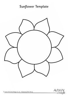 sunflower templates free download google search crafts