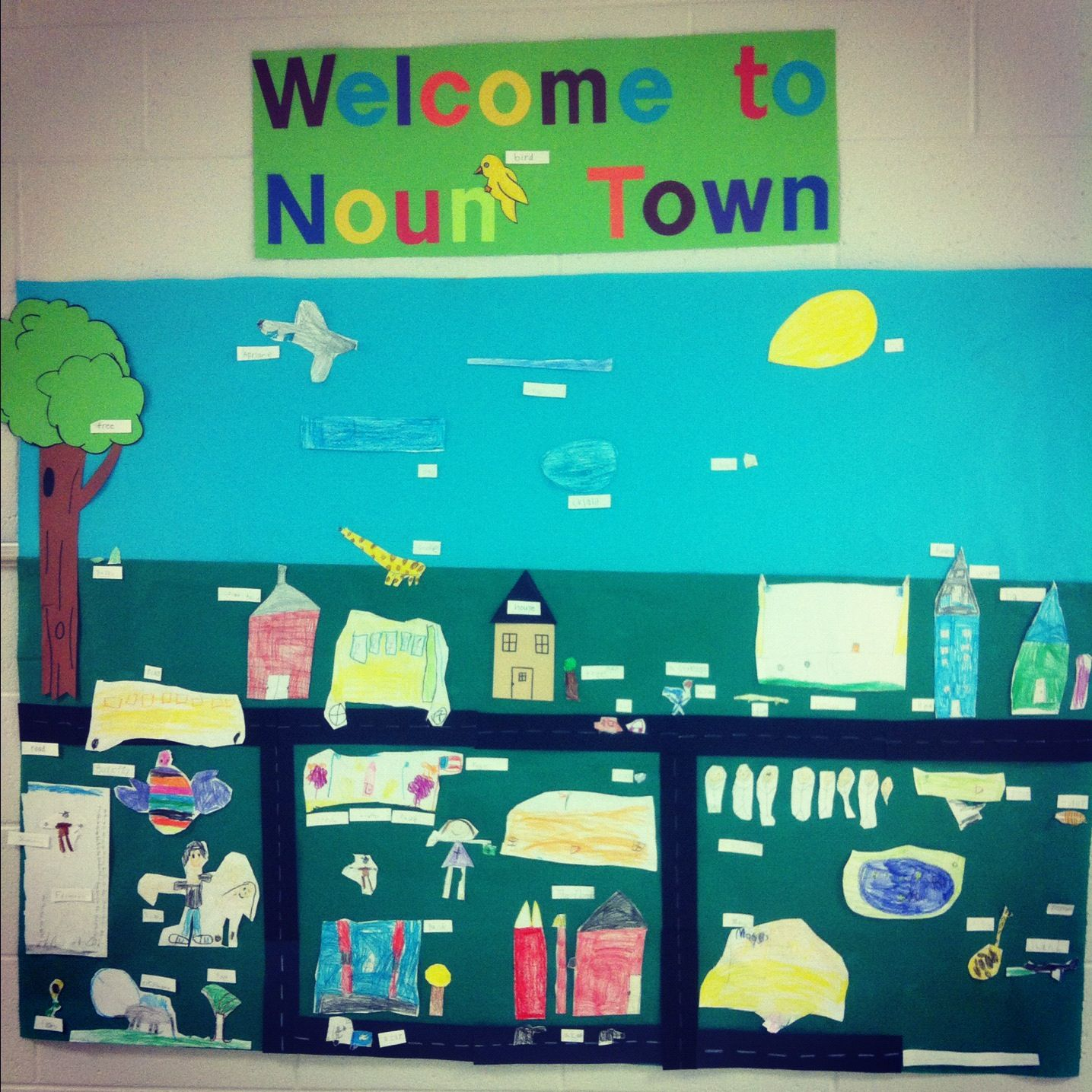 Noun Town.. Where people, places and things live (With