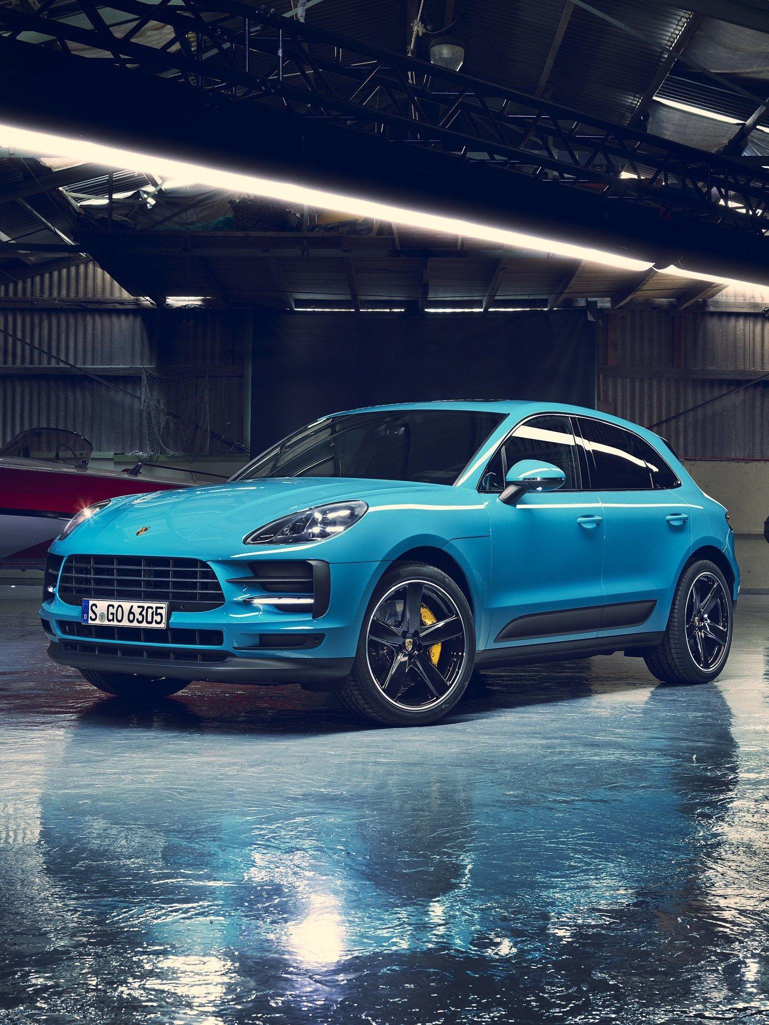 Porsche Macan, 2019, 4k, front view, exterior, garage, new