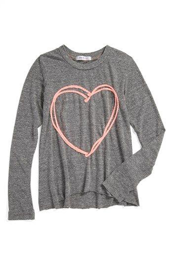 Joah Love 'Heart' Tee (Toddler Girls, Little Girls & Big Girls) available at #Nordstrom