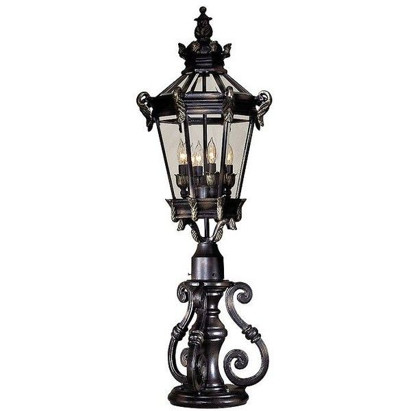 Minka Lavery Heritage Bronze Scroll Outdoor Lighting Pier Mount ($174) ❤  Liked On Polyvore
