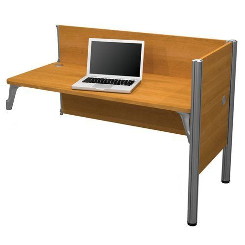Bestar Furniture Pro Biz Simple Add On Section In Cappuccino. Efficient  Wire Management With Grommets And Under Desk Eyelets.