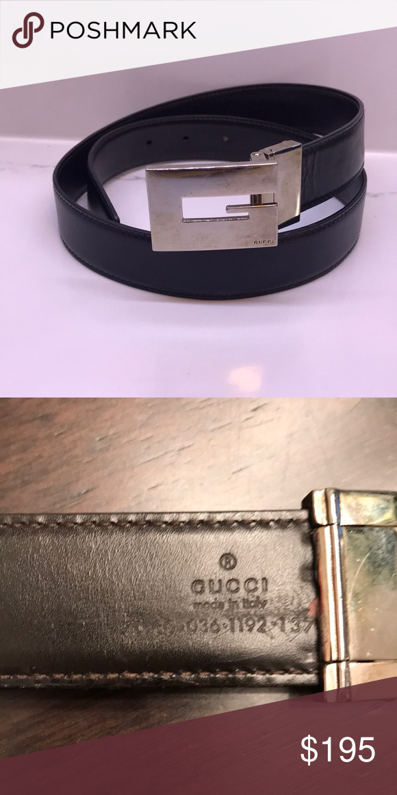 Gucci Belt Serial Number >> Vintage Block G Gucci Belt Unisex Reversible Black And Dark Brown
