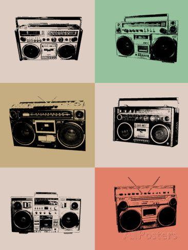 Boom Box Poster Posters Naxart Allposters Com Boombox Posters Art Prints Naxart