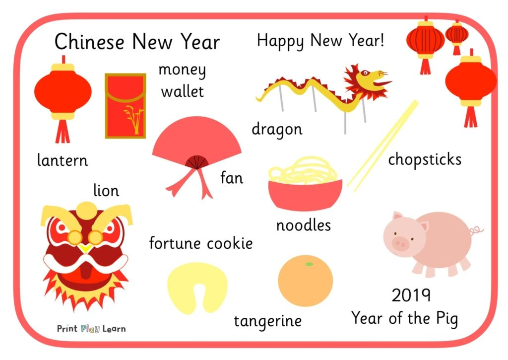 Updated for 2019 - Chinese New Year Word Mat - Printable Teaching Resources - Print Play Learn