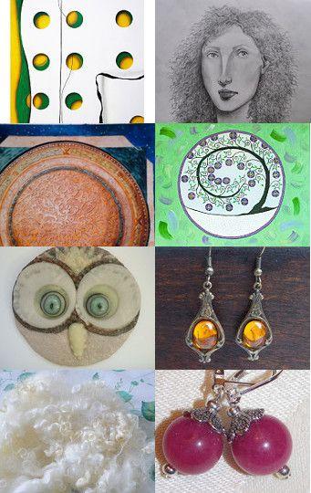 Circles Spirals Mandalas by Erica Kremenak--Pinned with TreasuryPin.com