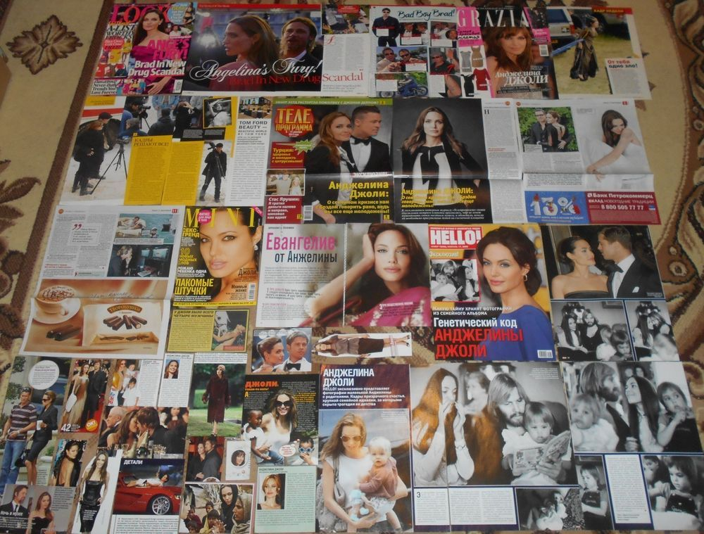 Angelina Jolie - Clippings Big Collection # 1