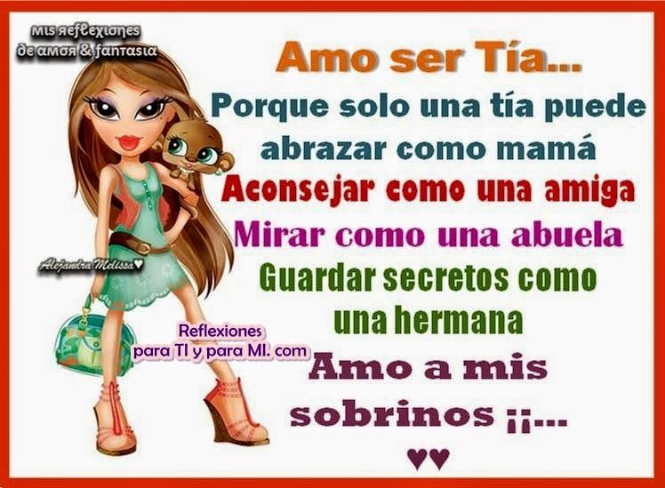 Frases Sobre Ser Tia: AMO SER TÍA !!!