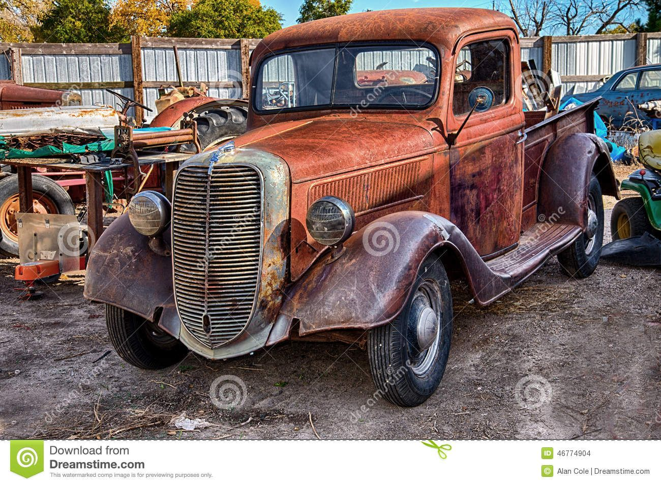 1937 Ford Truck Salvage Yard Editorial Stock Image Image 46774904 Ford Truck Ford Trucks