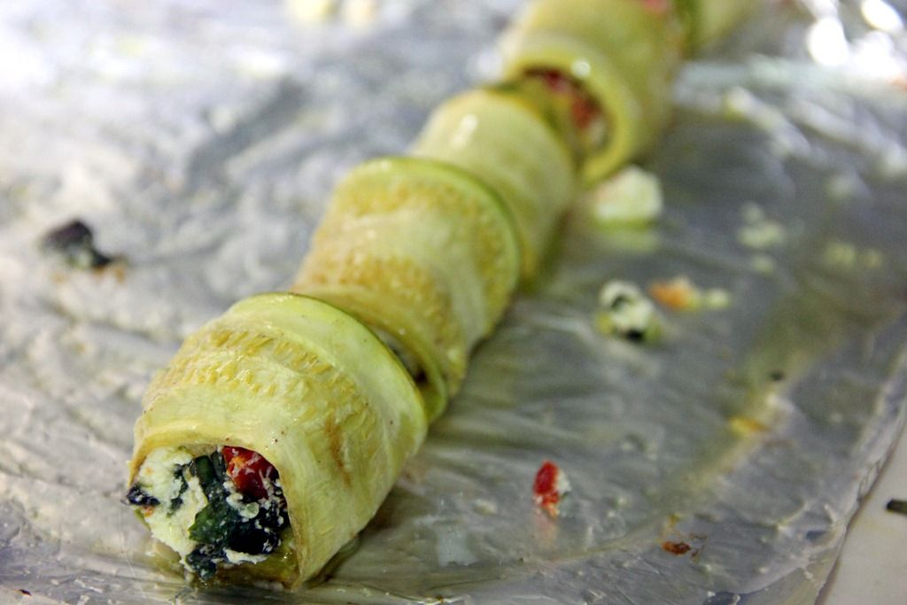 Zucchini-Goat Cheese Roll-Ups   # Pin++ for Pinterest #