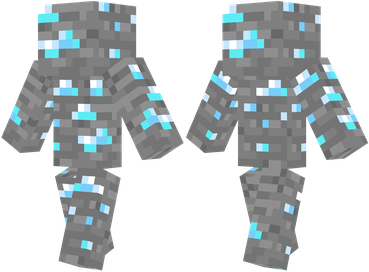 minecraft how to make a diamond ore statue