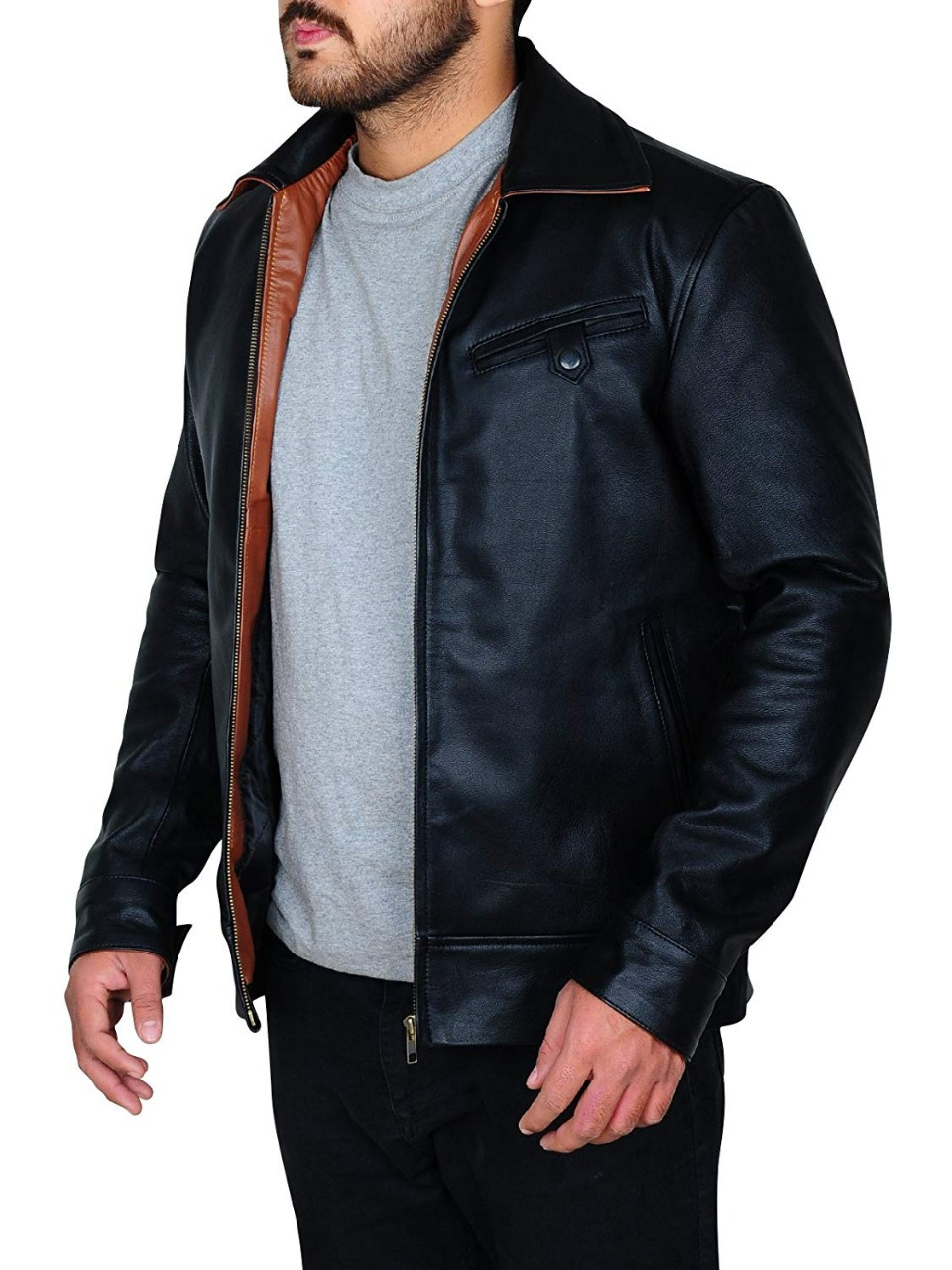 Cafe Racer Shawn Ashmore Game Quantum Break Black Leather