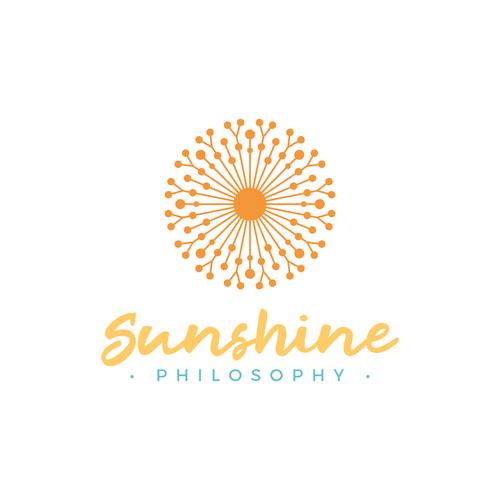 Sunshine Philosophy Logo Design Sunshine Logo Logo Design Branding Design Logo