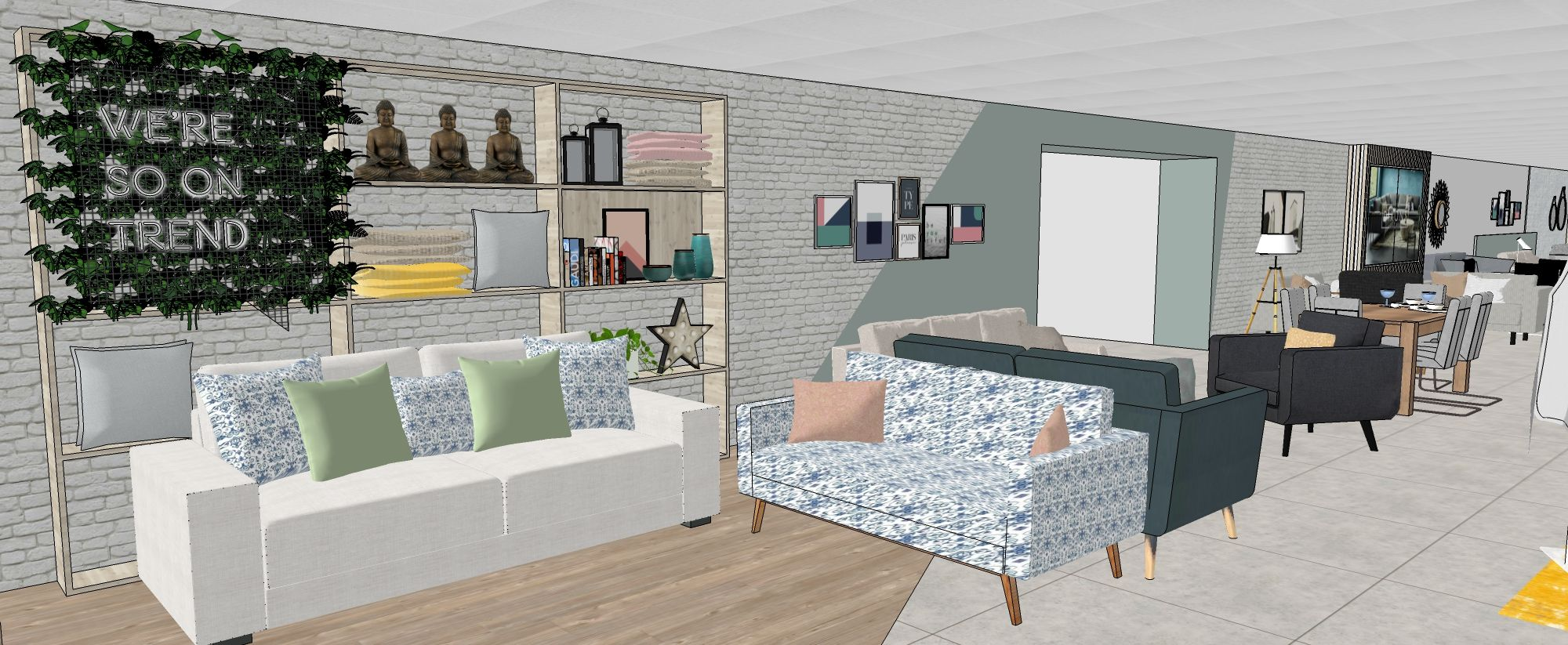 Retail design for Homestore. #retaildesign #homestore #retaildisplay #livingwall