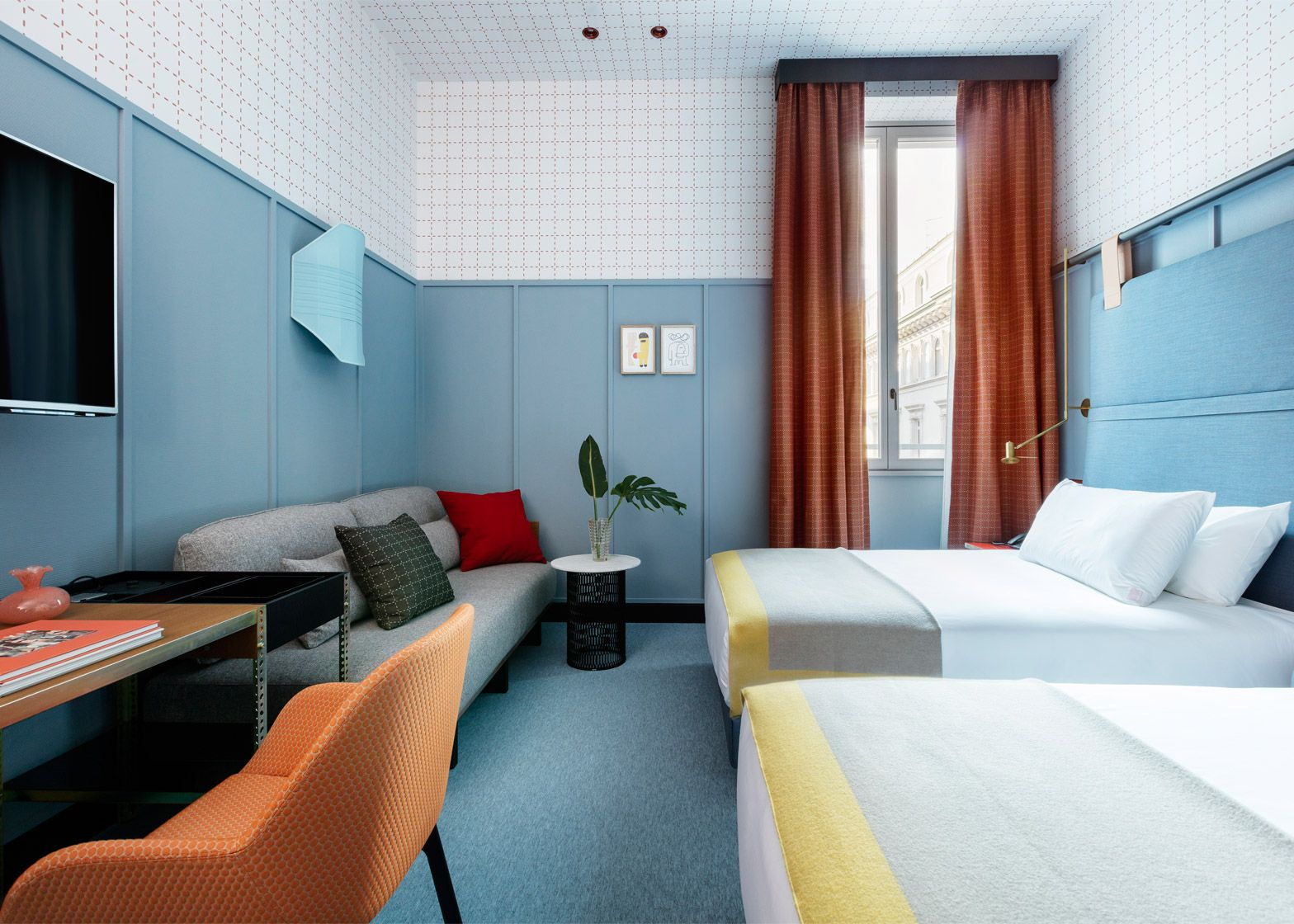 Patricia urquiola designs colourful milan outpost for room for Design hotel chain