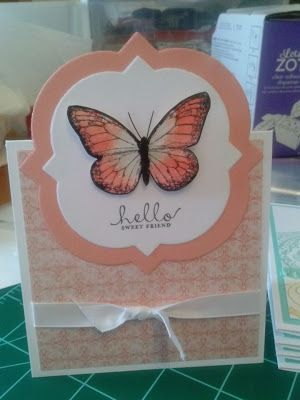 Hand-painted Monarch Butterfly card - Susu's Studio