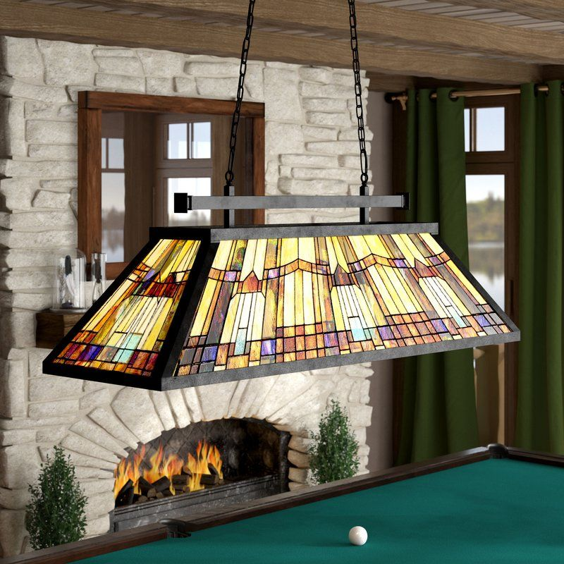 St Charles 3 Light Pool Table Geometric Pendant Pool Table