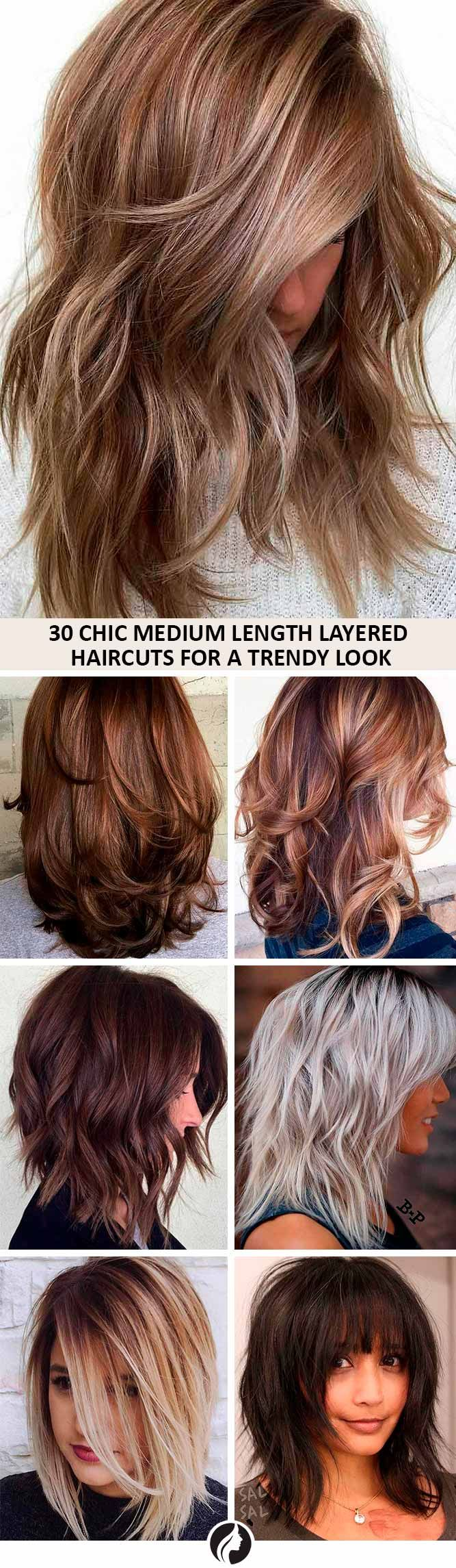 Medium length layered haircuts are a superb