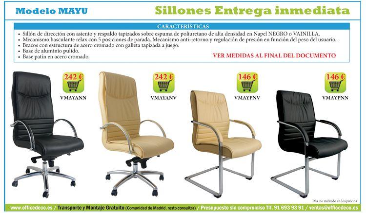 Sillas de oficina baratas con entrega inmediata | Sillas de oficina ...