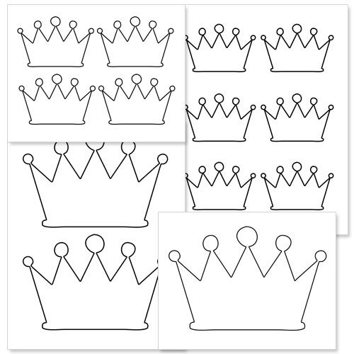 Printable Crown Shape from PrintableTreats Print It - crown template