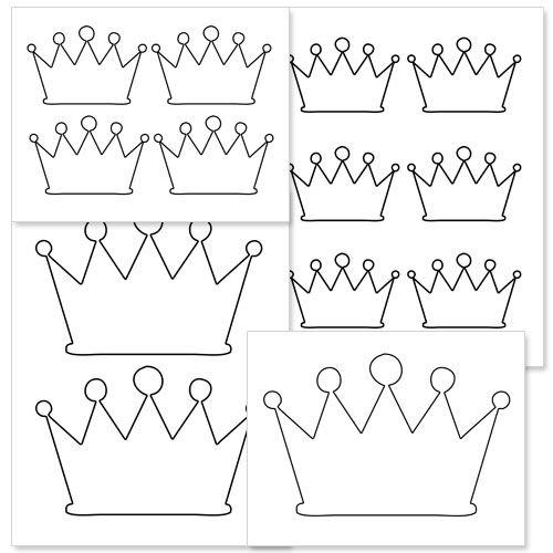 photo regarding Printable Crown named Printable Crown Form versus  Print It