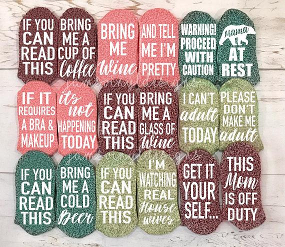 Funny Socks If You Can Read This Socks Wine Socks Beer Socks