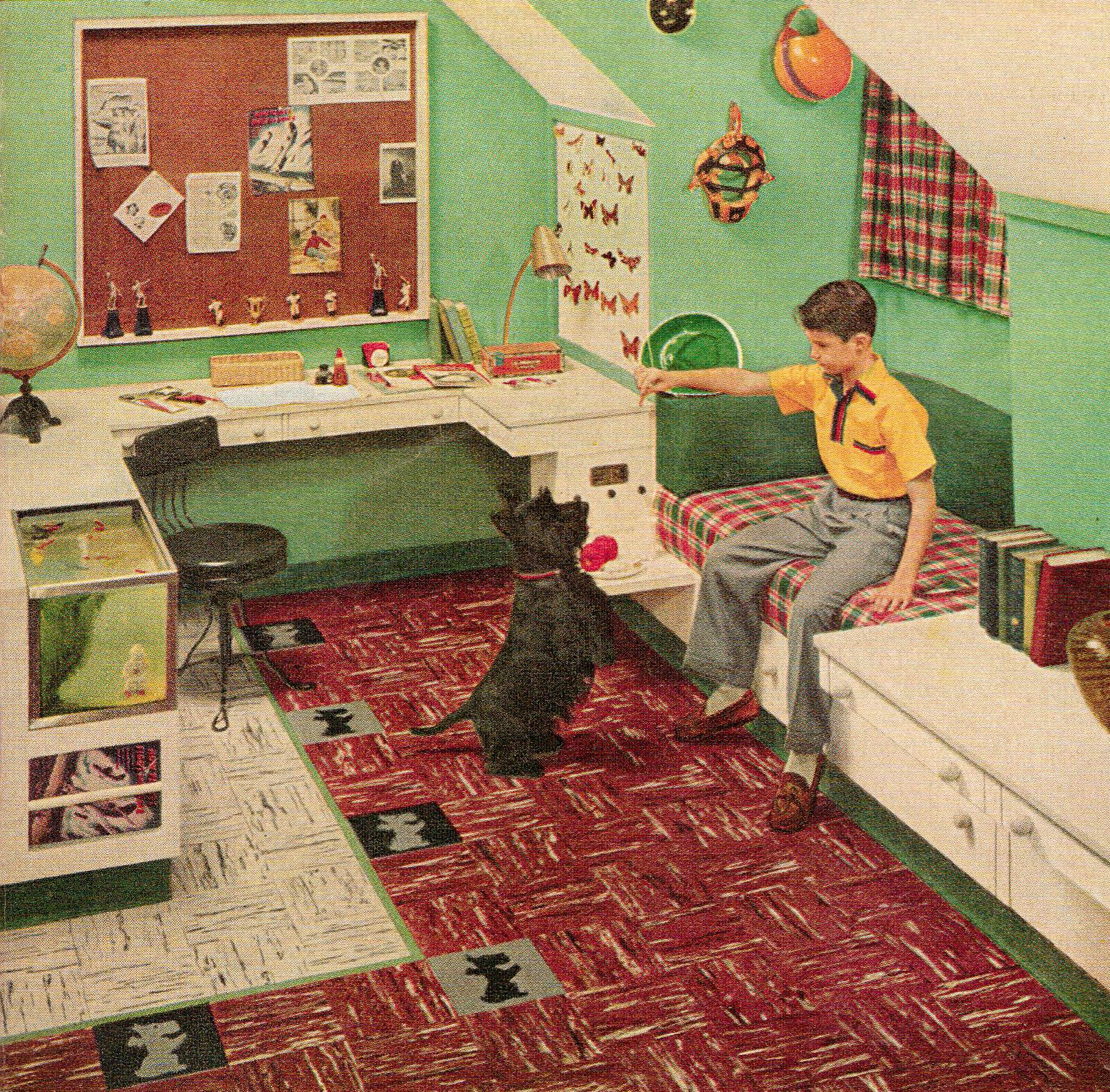 Custom Built Mid-century Bedroom For A Child, 1955 Http