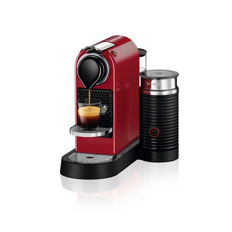Nespresso Citiz Espresso Machine Milk Frother C122 Us Cr Ne Red