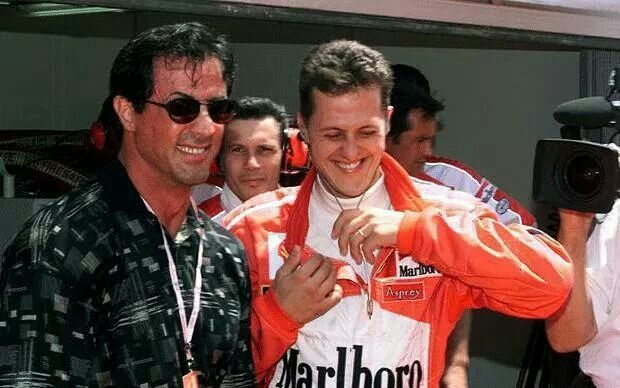 With Michael Schumacher