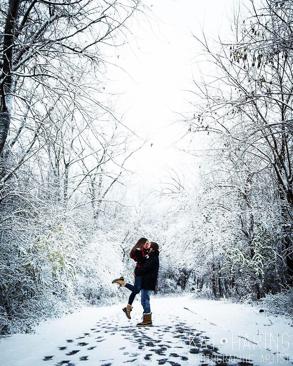 Снегопад влюбленные картинки