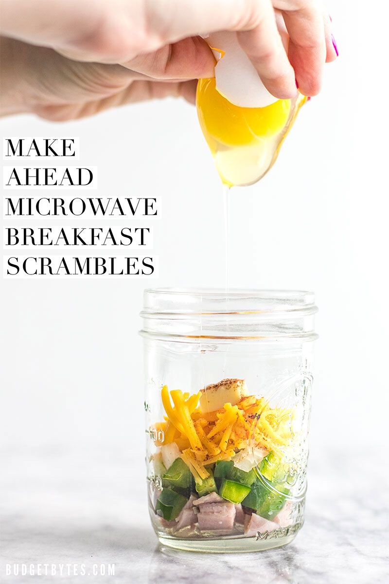 Make Ahead Microwave Breakfast Scrambles