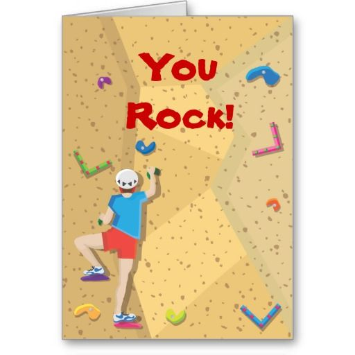 Girl Rock Climbing Birthday Thank You Rock Climbing Thank You Card for Girls Rock Climbing Birthday,You Rock Birthday Thank You Cards