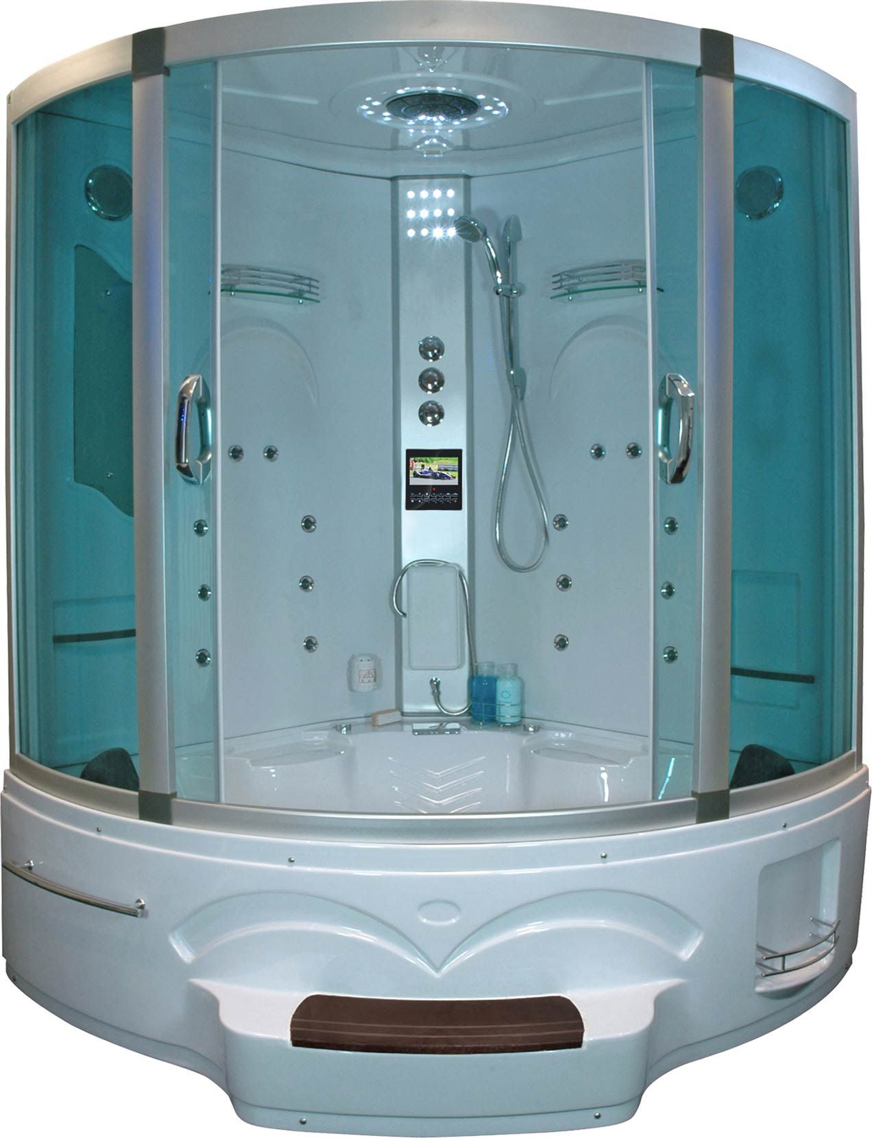 2 Person Steam Shower Room With Jacuzzi Whirlpool And Tv With