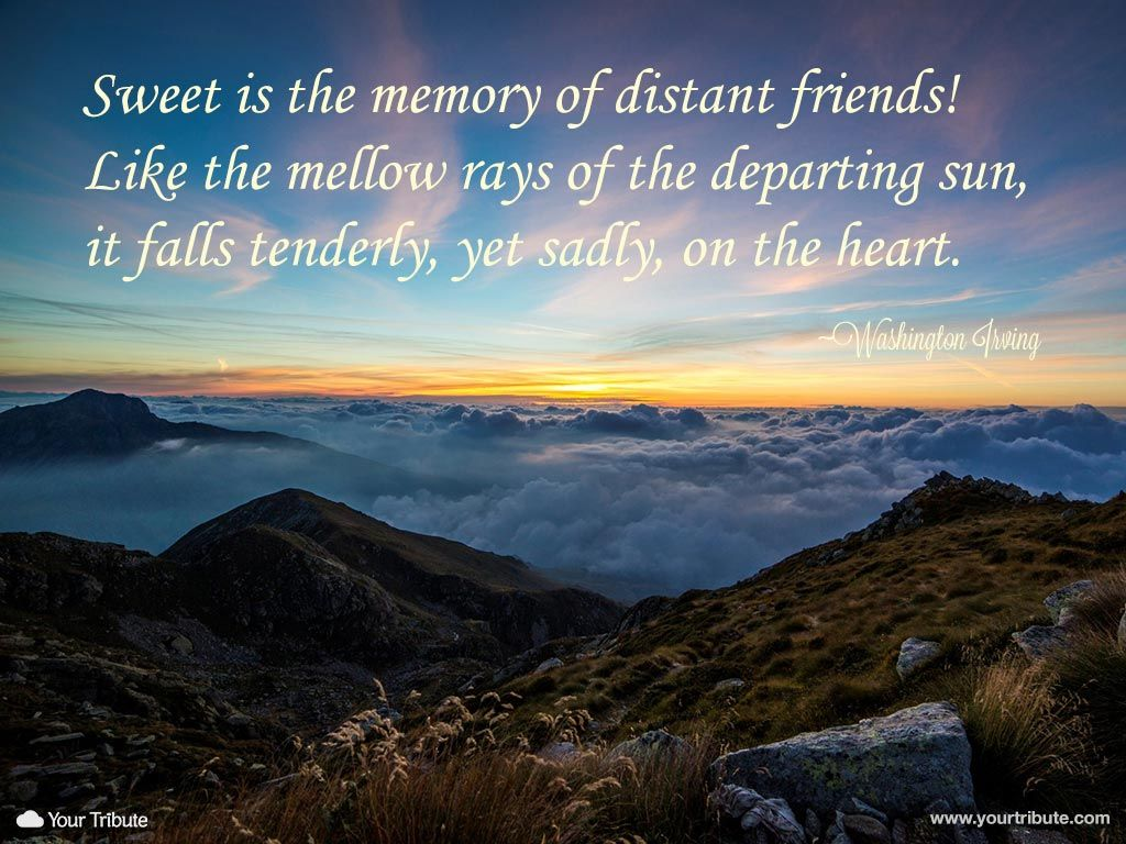 Quote Washington Irving Sweet is the memory of distant