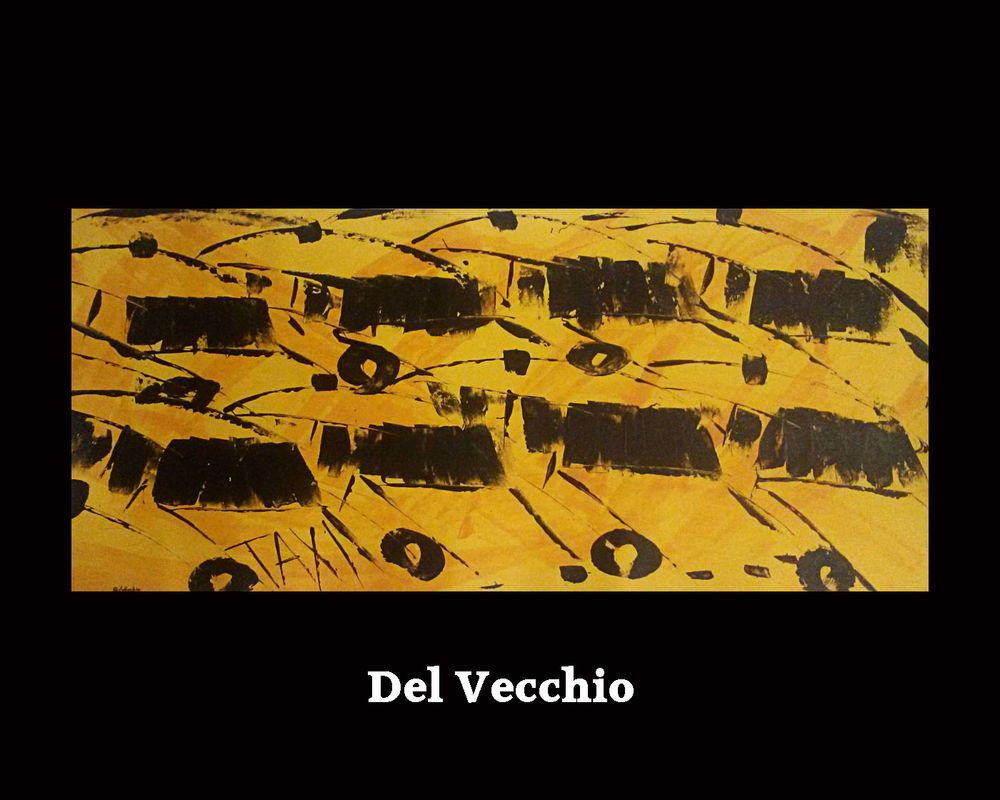 Taxi 0317A ORIGINAL Del Vecchio ABSTRACT Painting FINE ART Wall ...