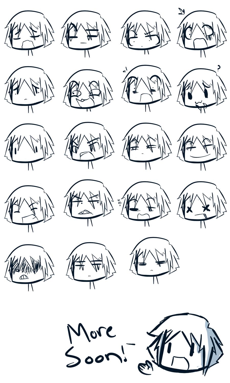 Картинки эмоции аниме чиби