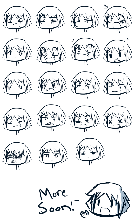 Expression sheet one by waywarddoodles draw manga and cartoon